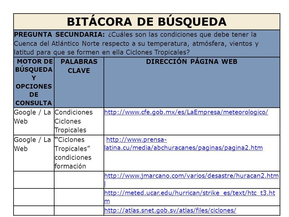 MOTOR DE BÚSQUEDA Y OPCIONES DE CONSULTA