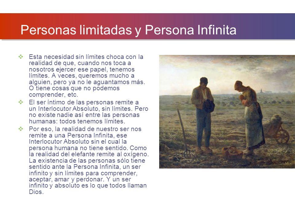 Personas limitadas y Persona Infinita