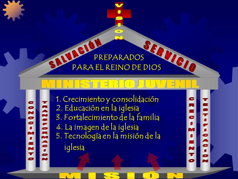 1. Crecimiento y consolidación 2. Educación en la iglesia