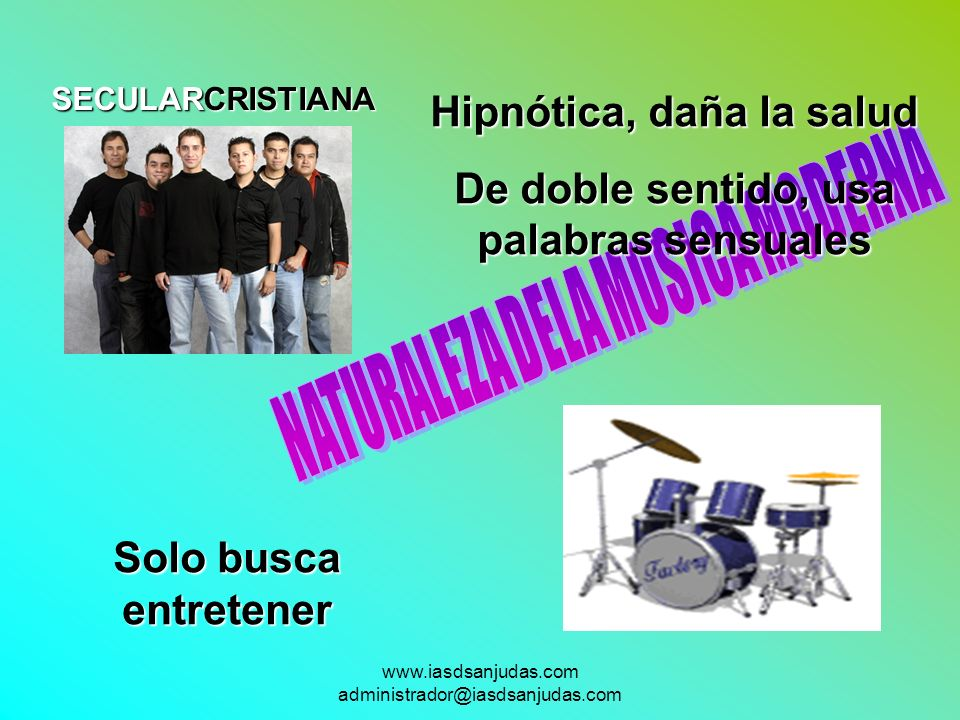 NATURALEZA DELA MUSICA MODERNA