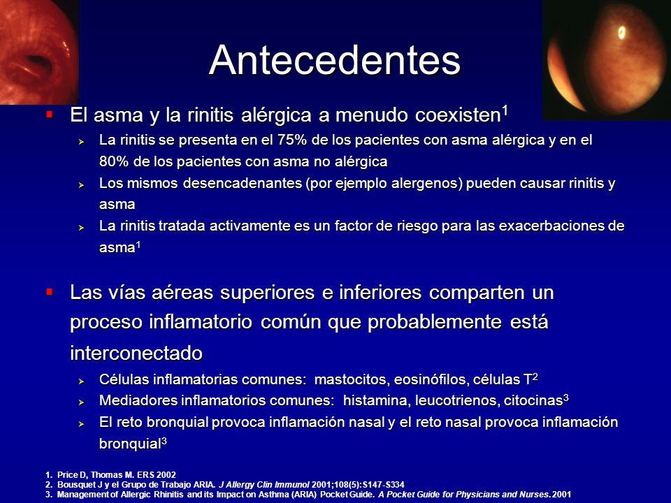 Antecedentes El asma y la rinitis alérgica a menudo coexisten1