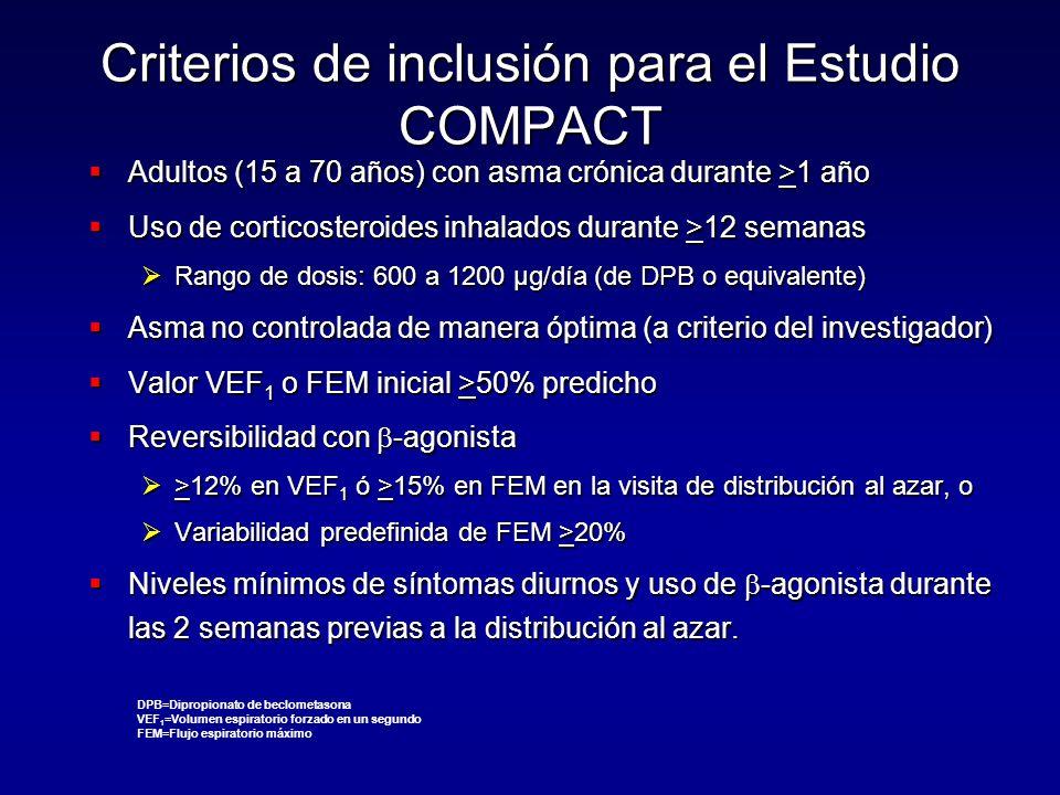 Criterios de inclusión para el Estudio COMPACT