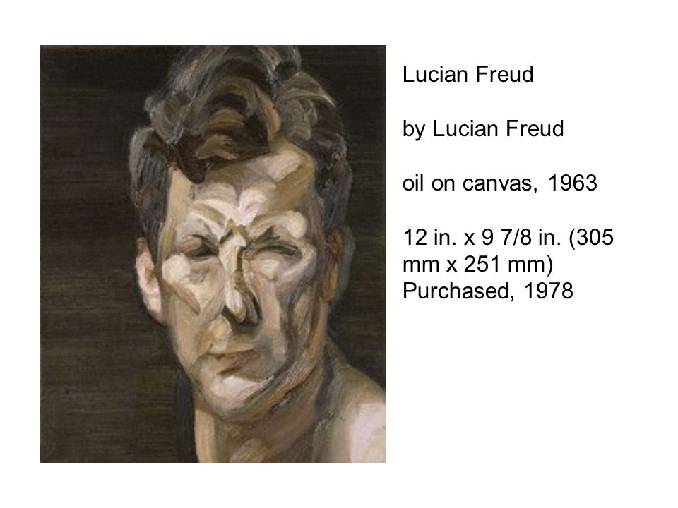 Lucian Freud by Lucian Freud. oil on canvas, 1963.