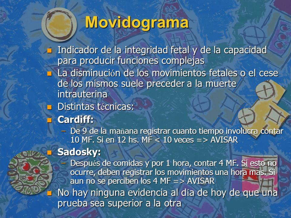 Movidograma Indicador de la integridad fetal y de la capacidad para producir funciones complejas.