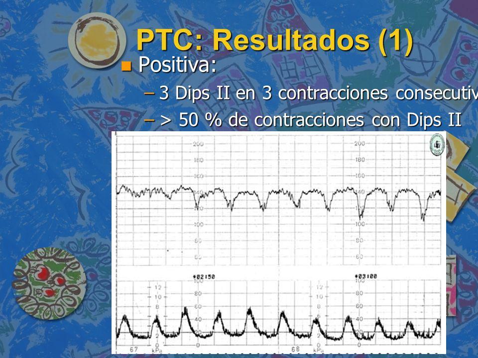 PTC: Resultados (1) Positiva: