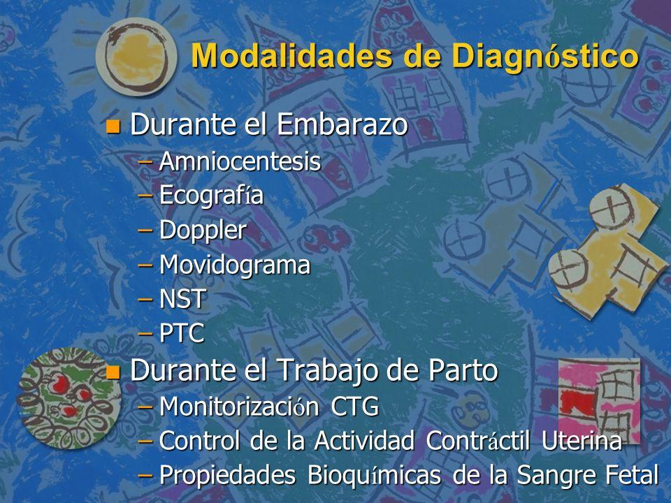 Modalidades de Diagnóstico