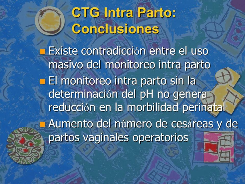 CTG Intra Parto: Conclusiones