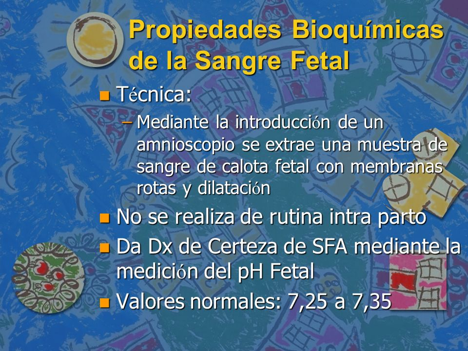 Propiedades Bioquímicas de la Sangre Fetal