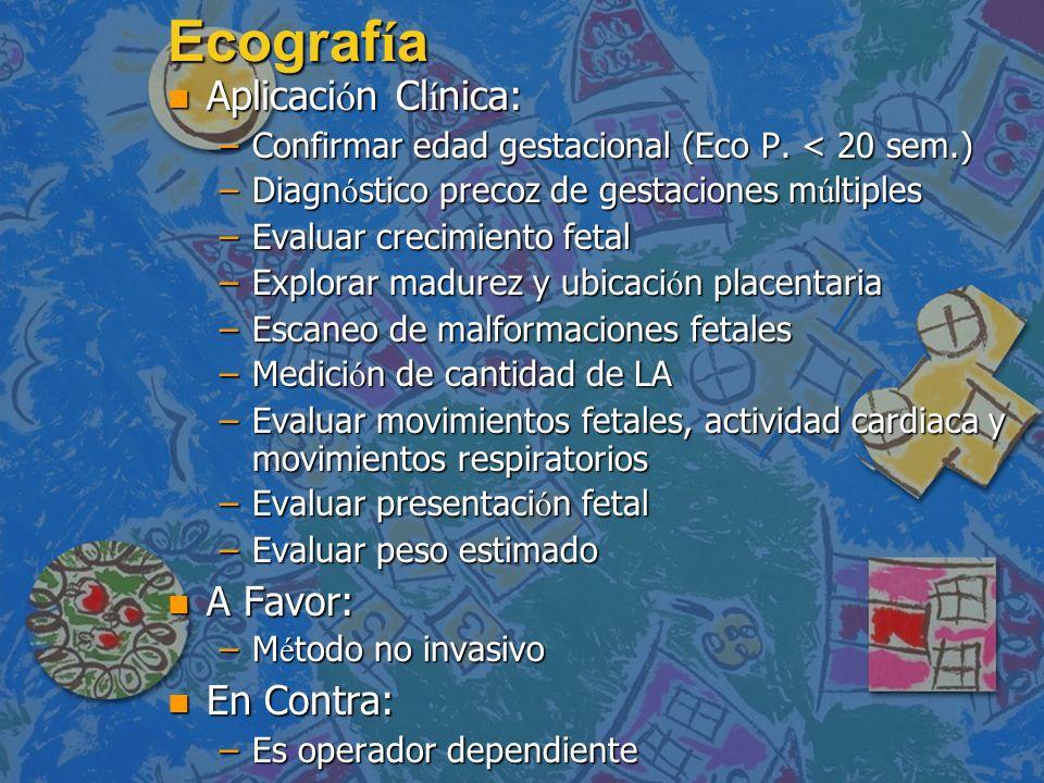 Ecografía Aplicación Clínica: A Favor: En Contra:
