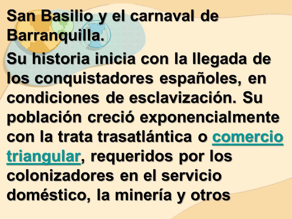 San Basilio y el carnaval de Barranquilla