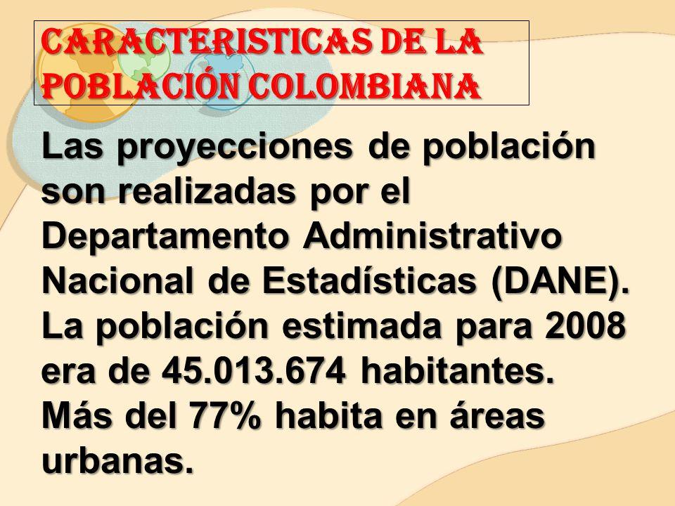 CARACTERISTICAS DE LA POBLACIÓN COLOMBIANA