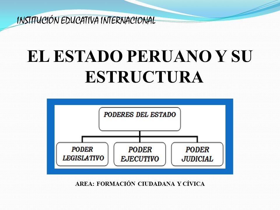 EL ESTADO PERUANO Y SU ESTRUCTURA AREA: FORMACIÓN CIUDADANA Y CÍVICA