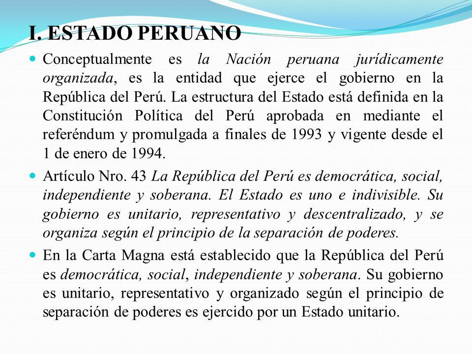 I. ESTADO PERUANO