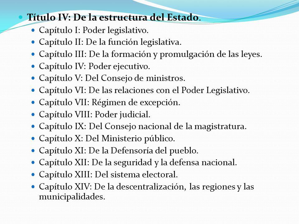 Título IV: De la estructura del Estado.