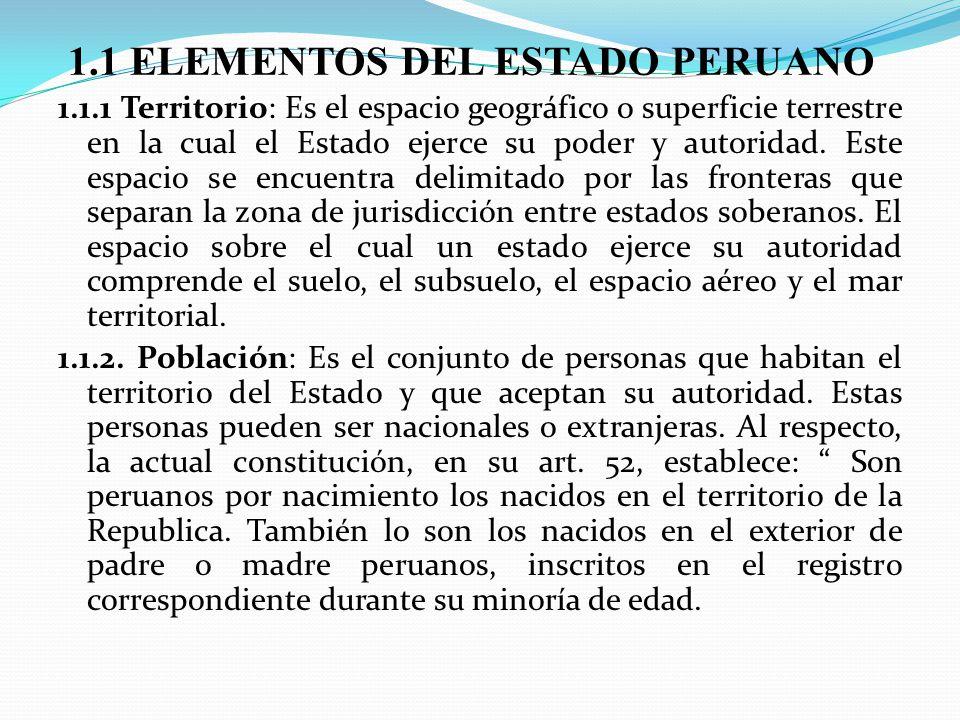 1.1 ELEMENTOS DEL ESTADO PERUANO