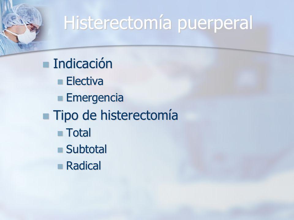 Histerectomía puerperal