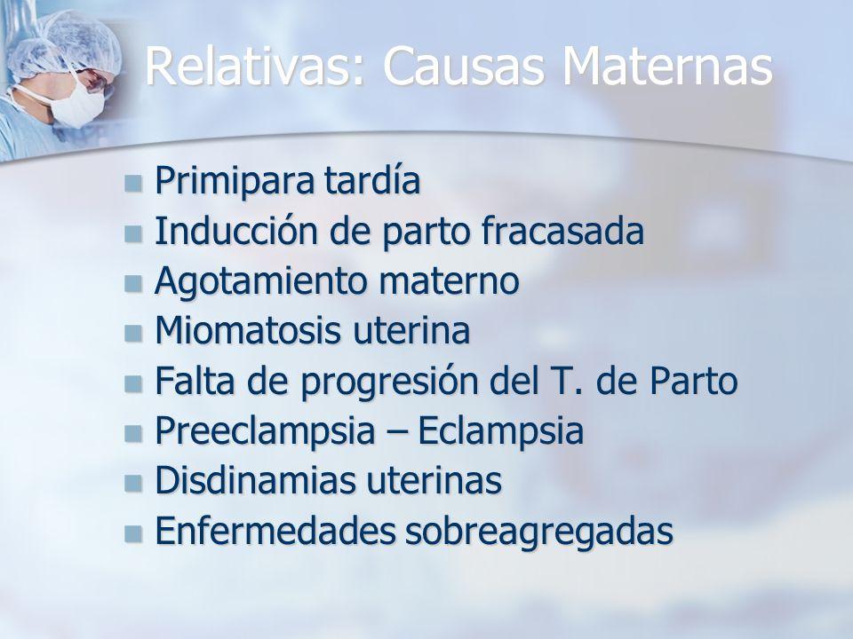 Relativas: Causas Maternas