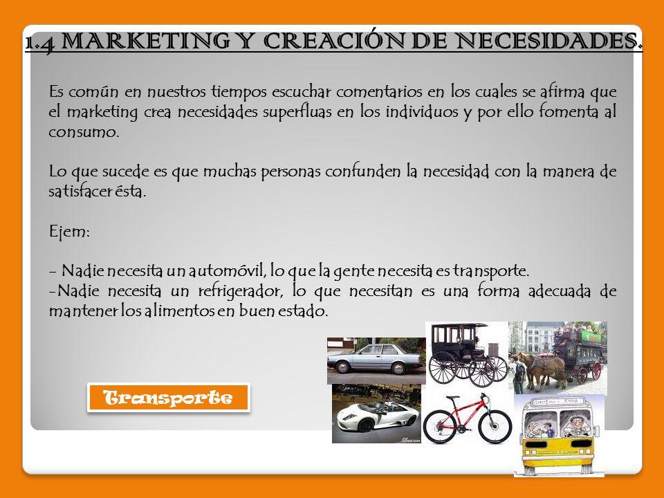 1.4 MARKETING Y CREACIÓN DE NECESIDADES.