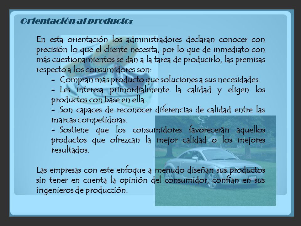 Orientación al producto: