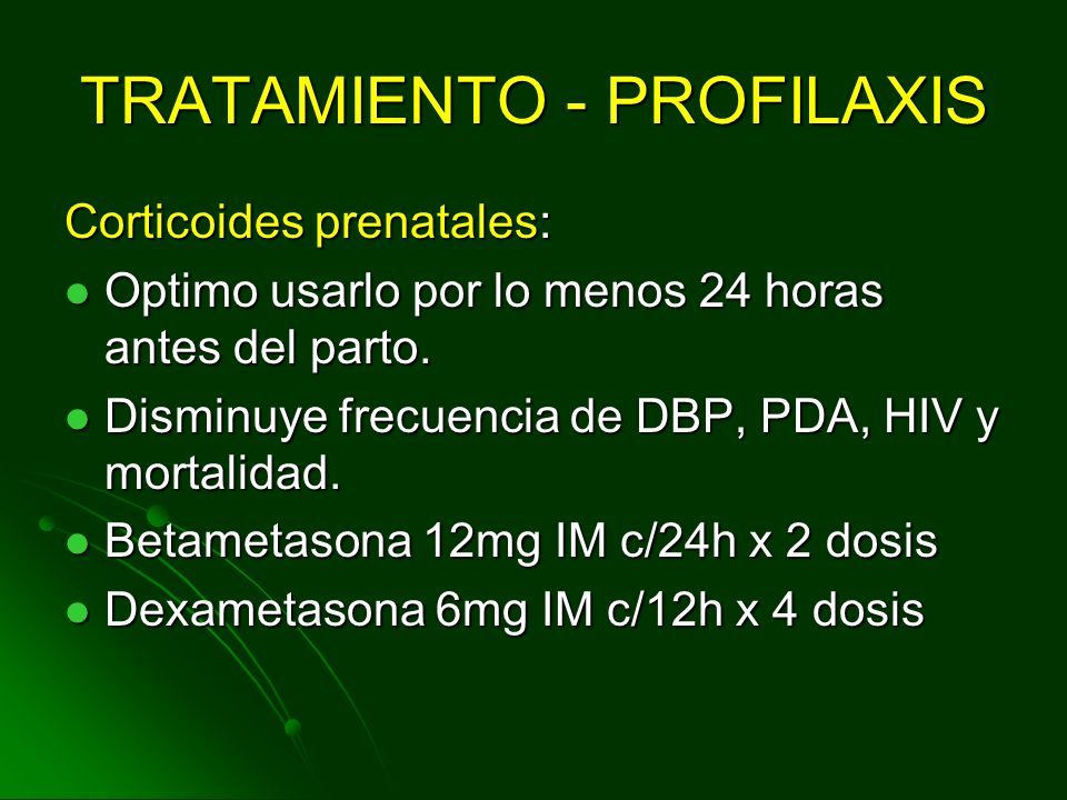 TRATAMIENTO - PROFILAXIS