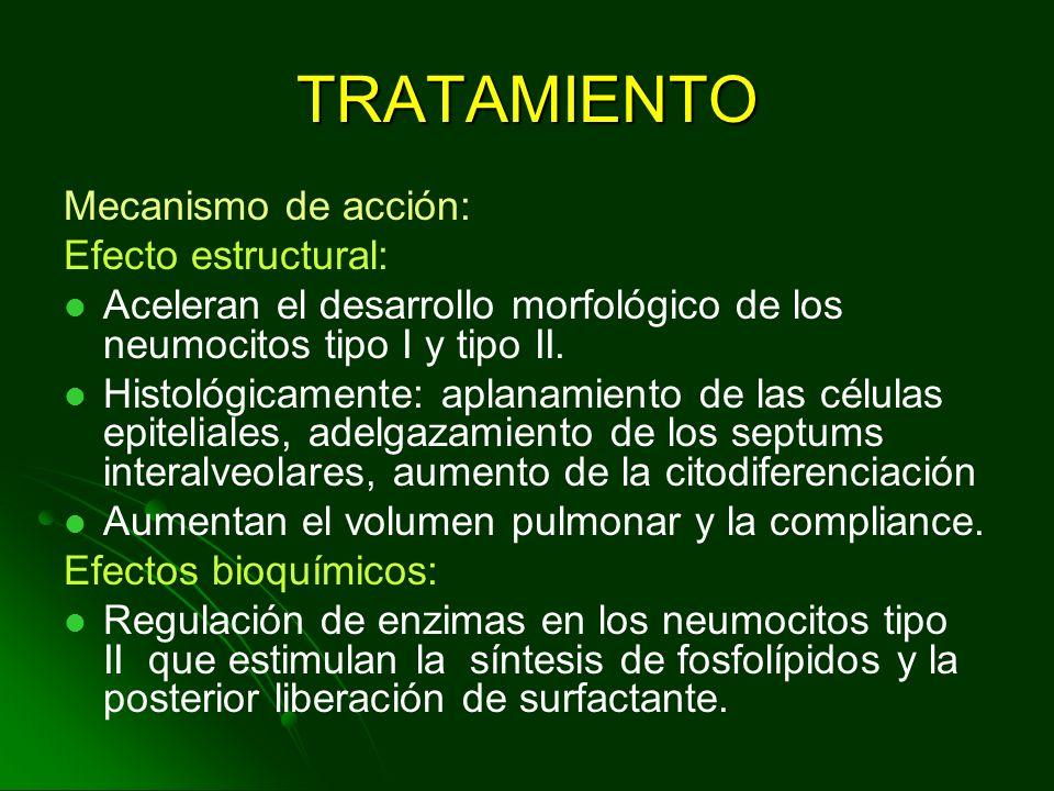 TRATAMIENTO Mecanismo de acción: Efecto estructural:
