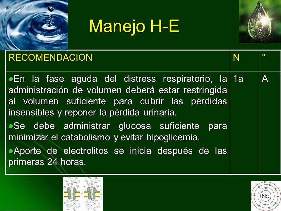Manejo H-E RECOMENDACION N °