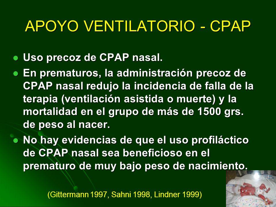 APOYO VENTILATORIO - CPAP