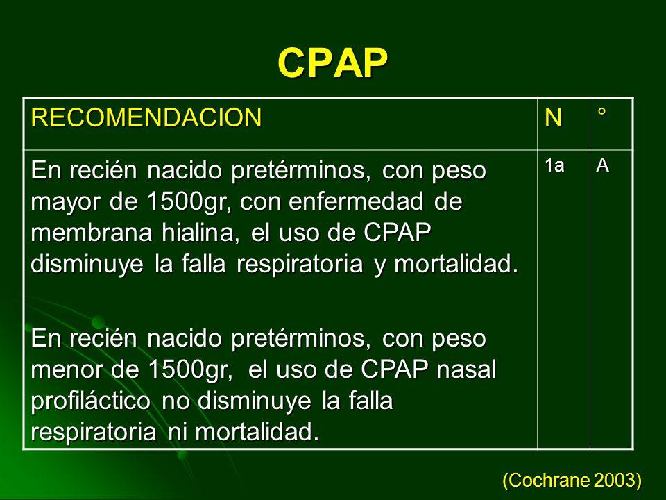 CPAP RECOMENDACION. N. °