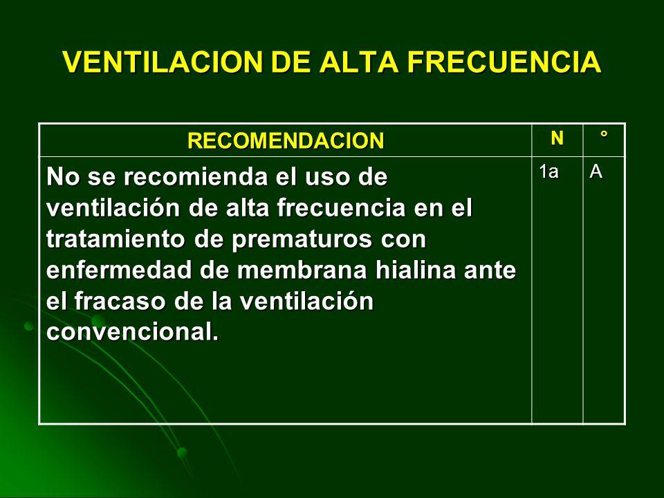 VENTILACION DE ALTA FRECUENCIA