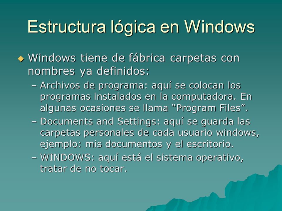 Estructura lógica en Windows