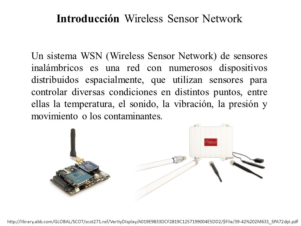 Introducción Wireless Sensor Network