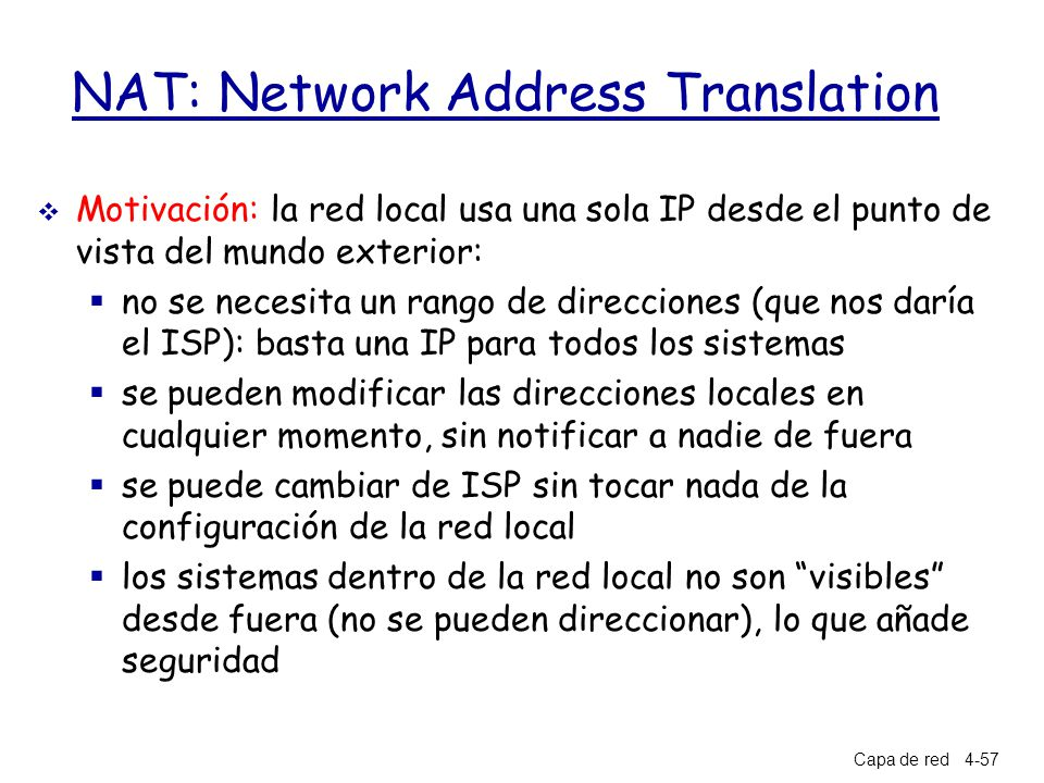 Cap tulo 4 la capa de red a note on the use of these ppt slides ppt descargar - Cambiar ip usa ...