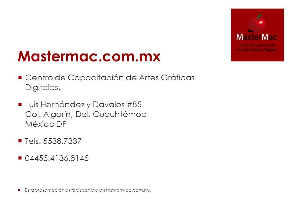 Mastermac.com.mx Centro de Capacitación de Artes Gráficas Digitales.