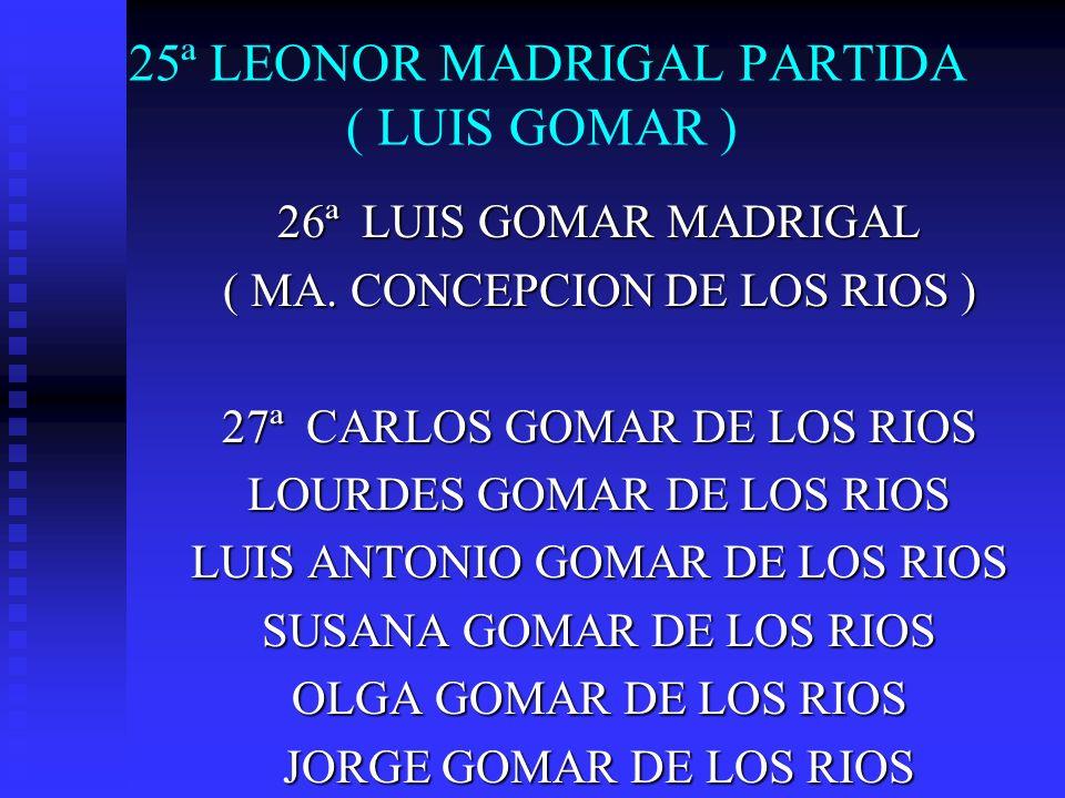 25ª LEONOR MADRIGAL PARTIDA ( LUIS GOMAR )