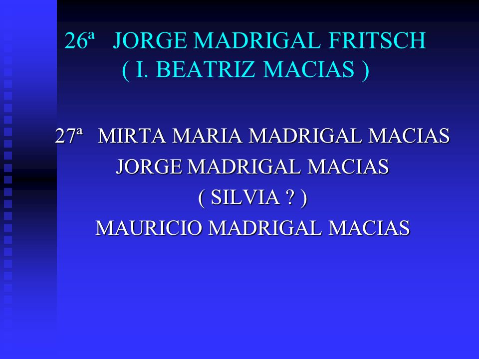 26ª JORGE MADRIGAL FRITSCH ( I. BEATRIZ MACIAS )