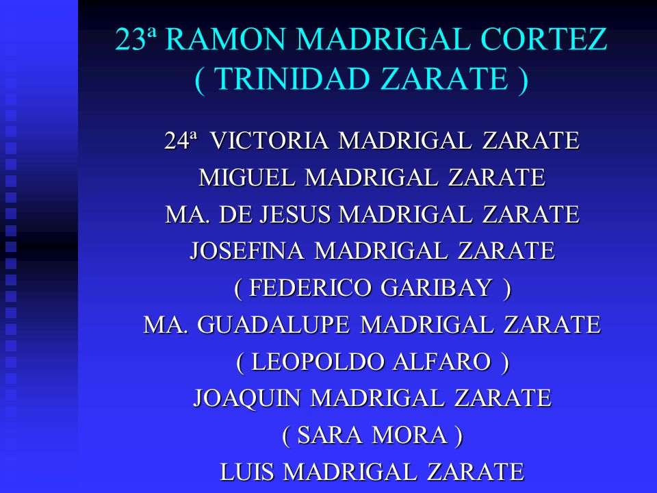 23ª RAMON MADRIGAL CORTEZ ( TRINIDAD ZARATE )
