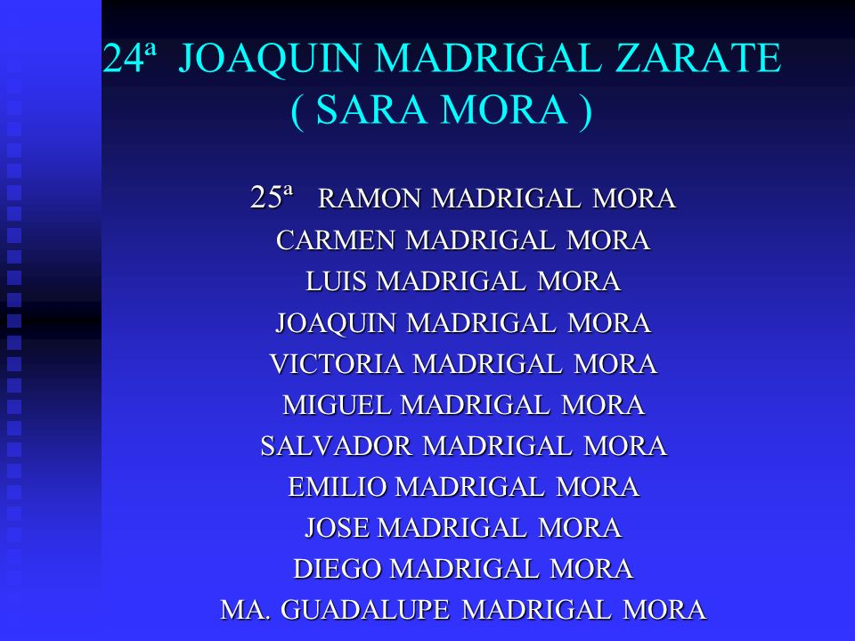 24ª JOAQUIN MADRIGAL ZARATE ( SARA MORA )