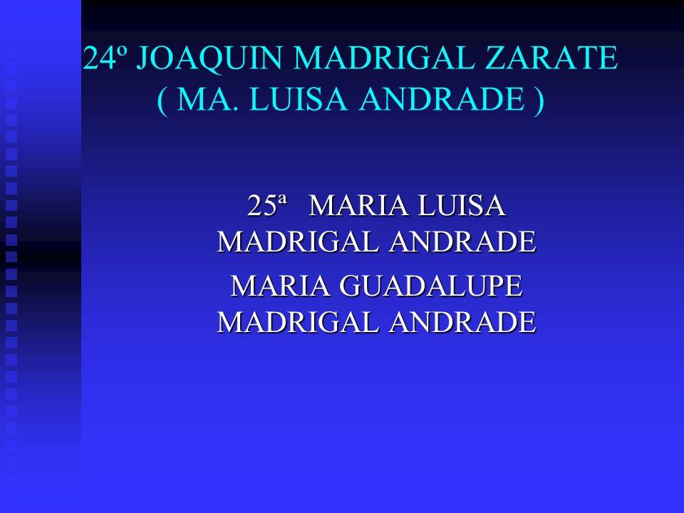 24º JOAQUIN MADRIGAL ZARATE ( MA. LUISA ANDRADE )