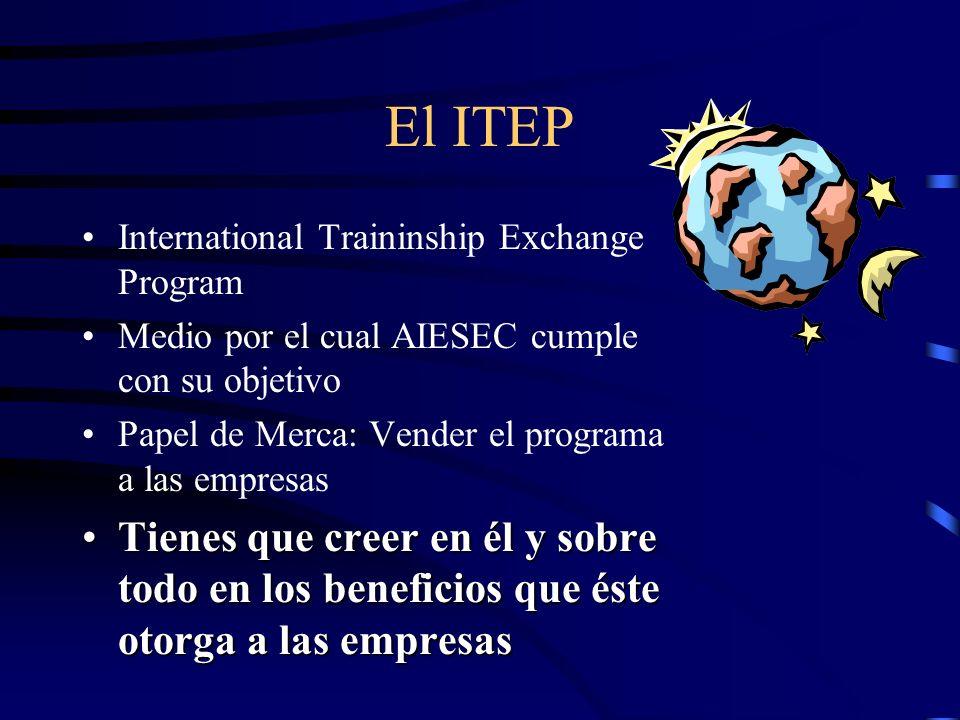 El ITEPInternational Traininship Exchange Program. Medio por el cual AIESEC cumple con su objetivo.