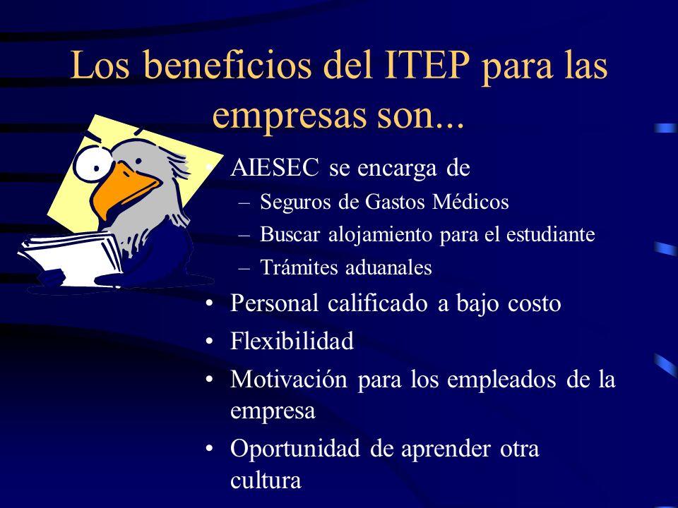 Los beneficios del ITEP para las empresas son...