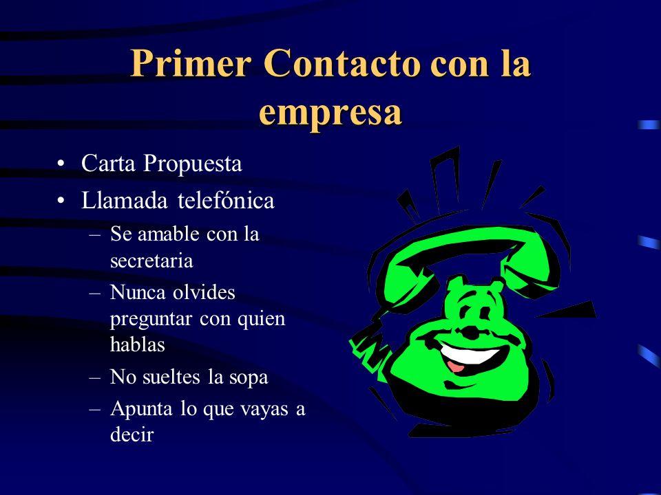 Primer Contacto con la empresa