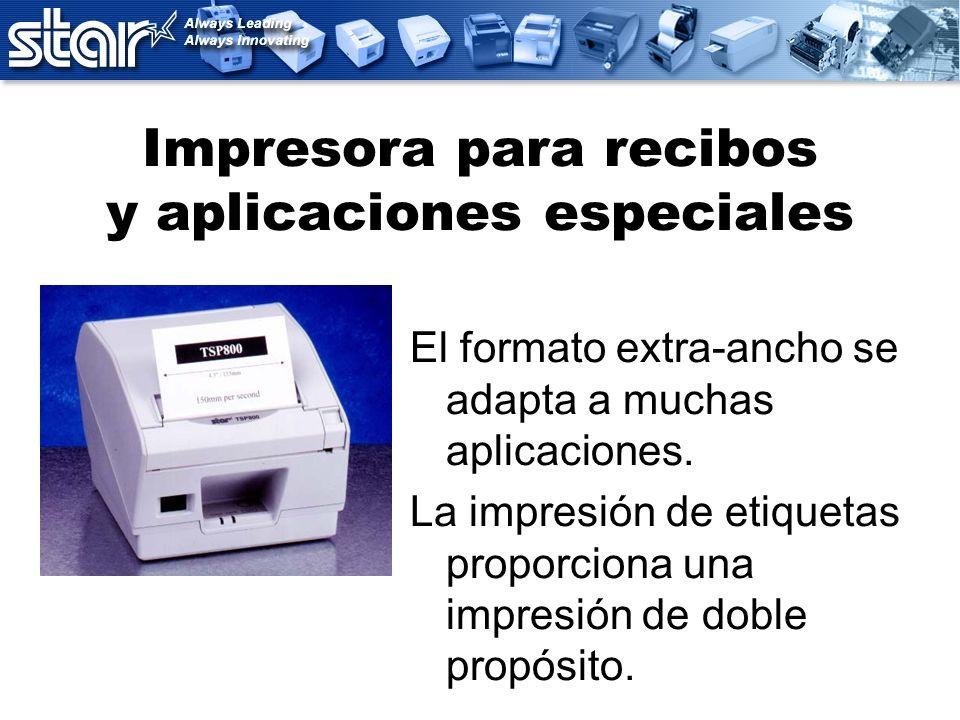 Impresora para recibos y aplicaciones especiales