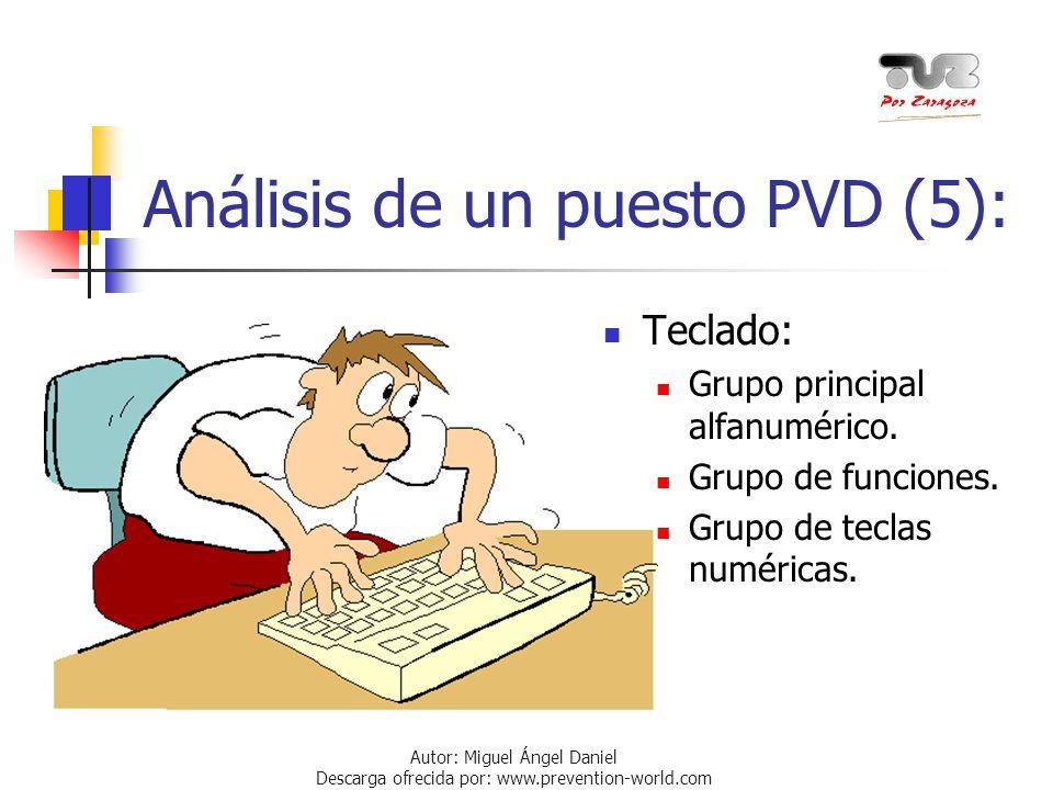 Análisis de un puesto PVD (5):
