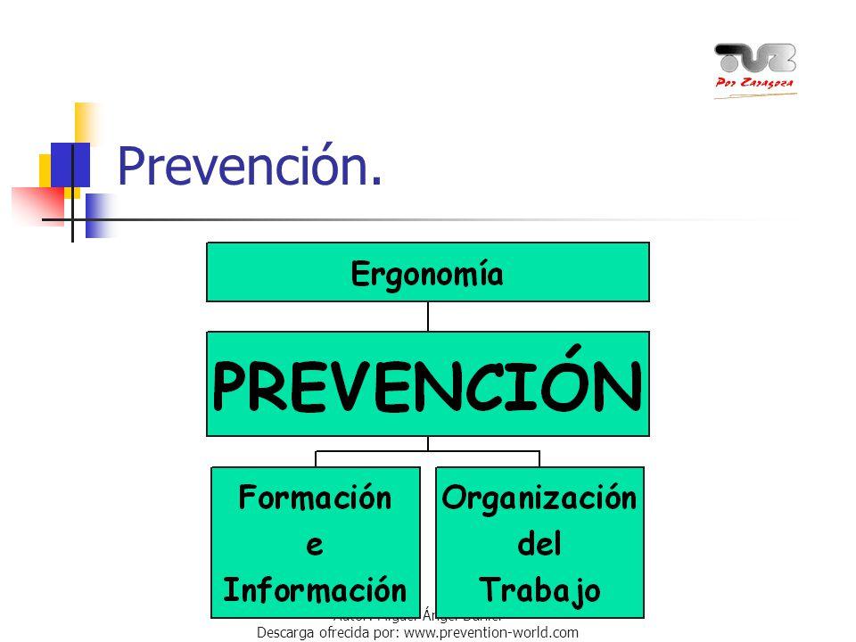 Prevención. La clave para evitar los efectos sobre nuestra salud del trabajo con PVD consiste en la PREVENCIÓN.