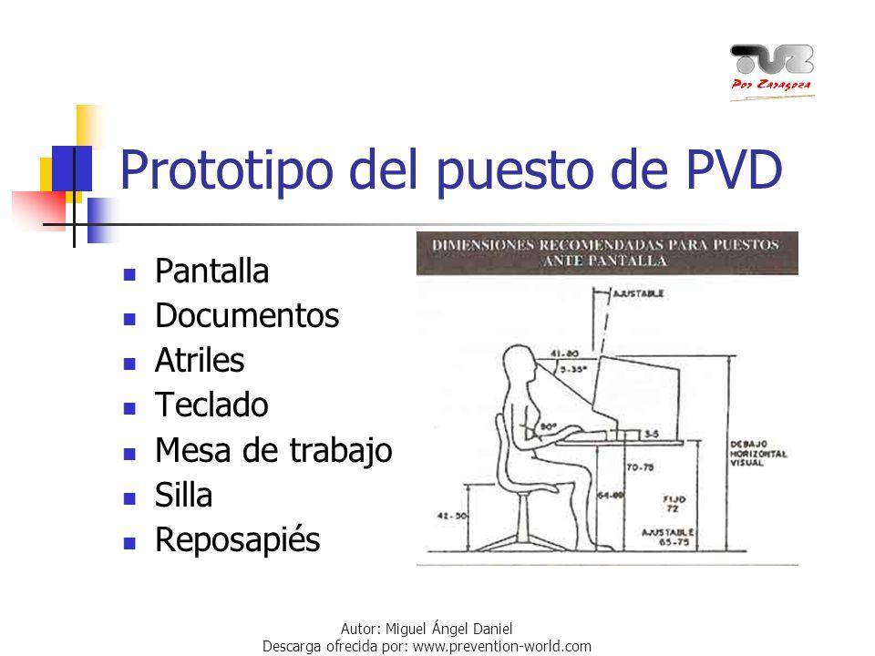 Prototipo del puesto de PVD