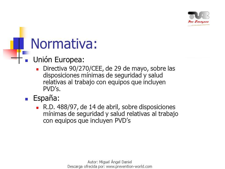 Normativa: Unión Europea: España:
