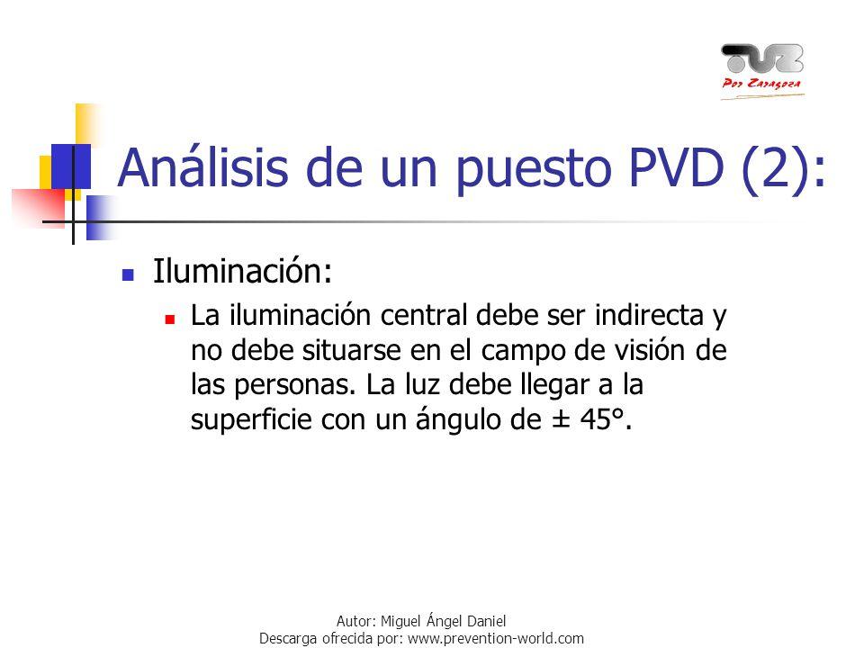 Análisis de un puesto PVD (2):