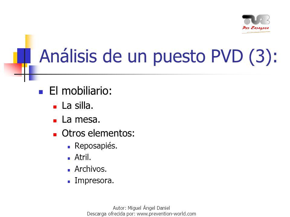 Análisis de un puesto PVD (3):