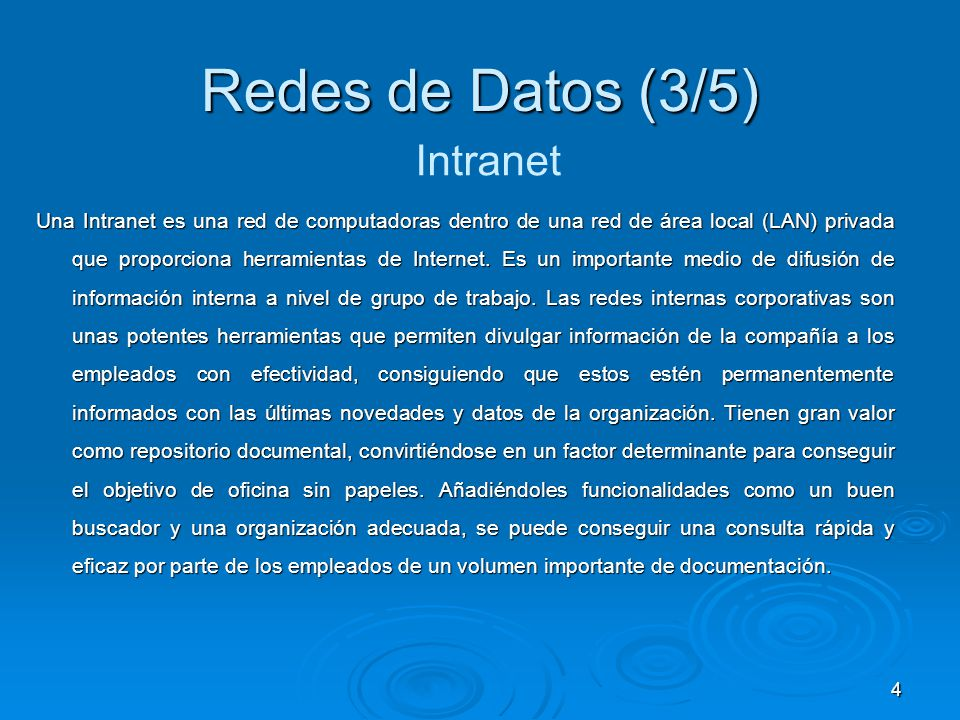 Redes de Datos (3/5) Intranet