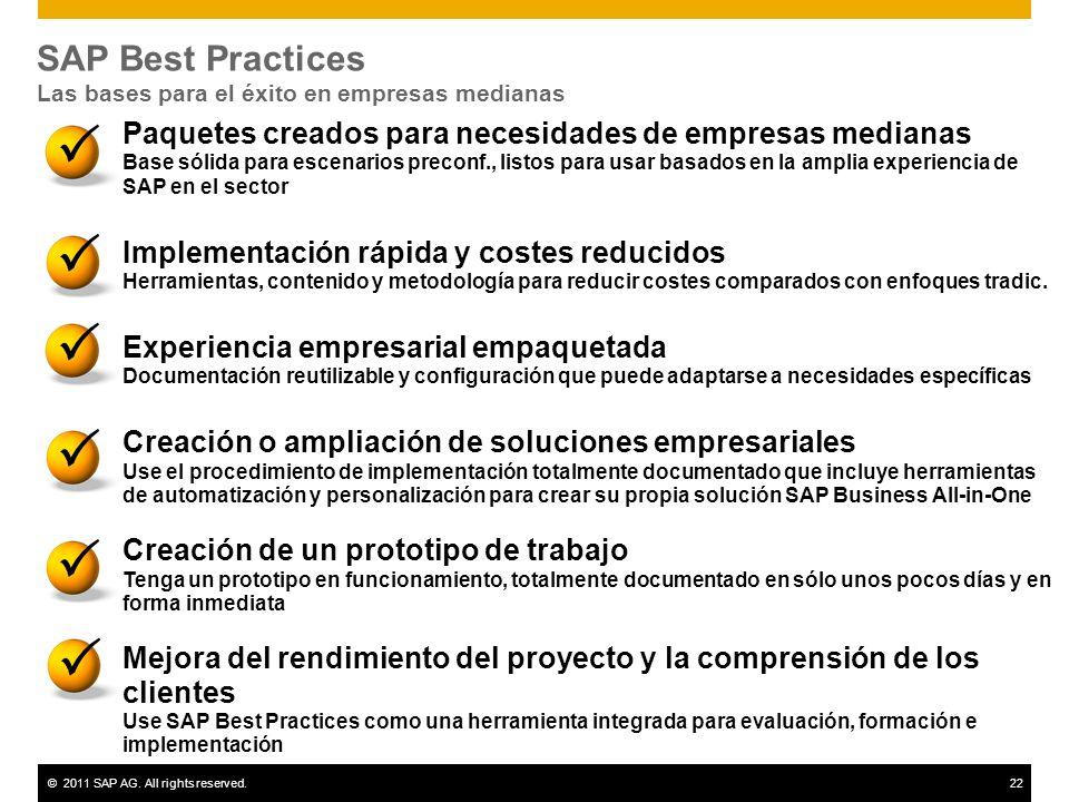 SAP Best Practices Las bases para el éxito en empresas medianas